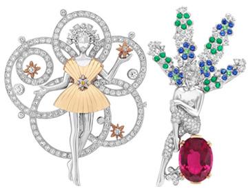 梵克雅宝全新仙子胸针 延续世家迷人世界的诗意柔美