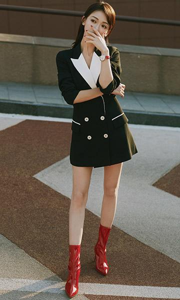 吴谨言携全新#MY4810旅行箱红色特别款亮相