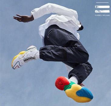 adidas与Pharrell Williams联手打造CRAZY BYW LVL X PW 经典鞋