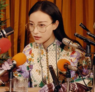 倪妮演绎GUCCI 2018秋冬全新眼镜广告形象大片