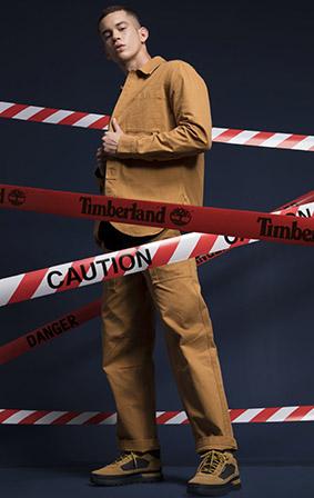 Timberland暖色与冷色工装搭配 这个季节穿TA就对了!